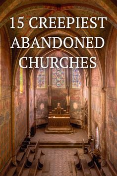 These churches are so stunningly beautiful, you will never guess people have abandoned them. See what's inside of these haunting churches that will make you want to find and explore it yourself.