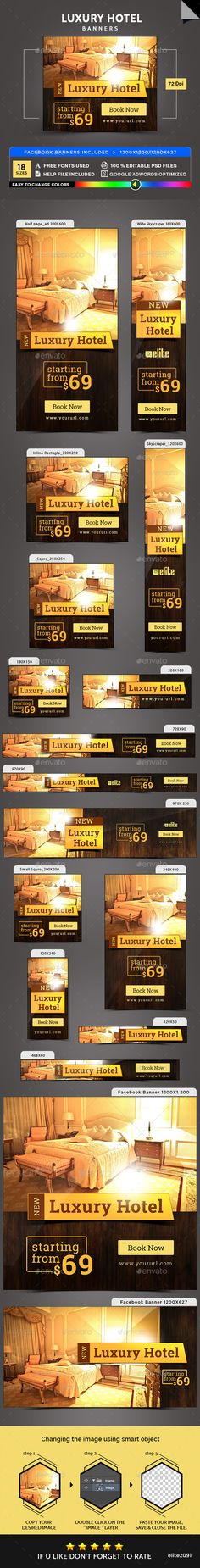Luxury Hotel Banners - Banners & Ads Web Elements Download here : https://graphicriver.net/item/luxury-hotel-banners/19279260?s_rank=62&ref=Al-fatih