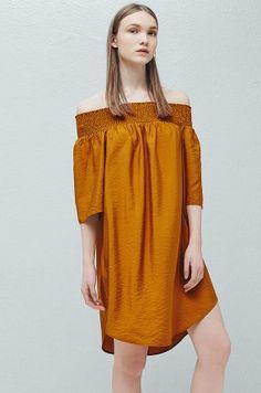 Mango - Sukienka bardot odkryte ramiona Charlize