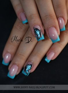 "Visit our web site for additional details on ""gel nail designs for fall autumn"". It is actually an excellent location for more information. Shiny Nails, Fancy Nails, Cute Nails, Pretty Nails, Butterfly Nail Designs, Butterfly Nail Art, Gel Nail Designs, Butterfly Fashion, French Nail Art"