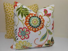 Floral Pillow Cover- Charleston Home Avery Printed Cotton Fabric Garden by Richloom Couch Pillows, Throw Pillows, Charleston Homes, Floral Pillows, Own Home, Home Deco, Printed Cotton, Pillow Covers, My Design