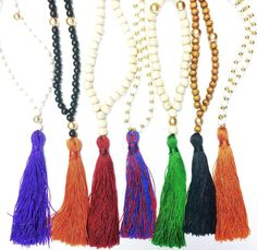 Just some fun tassel necklaces from BeadedByW! #tassel #necklace #tasselnecklace #fun #beadedbyw