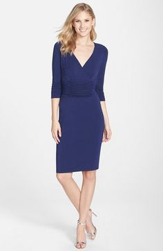 Nue by Shani Ruched Jersey Sheath Dress