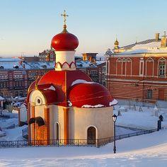 Church in Iversky virgin Monastery (Russia