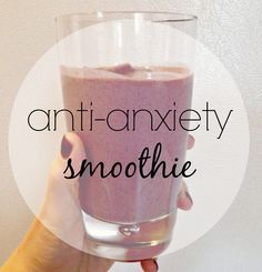 Whip up this anti-anxiety smoothie recipe to start your day off on the calm side. No caffeine or added or artificial sugar. Whip up this anti-anxiety smoothie recipe to start your day off on the calm side. No caffeine or added or artificial sugar. Apple Smoothies, Healthy Smoothies, Healthy Drinks, Healthy Snacks, Vegetable Smoothies, Healthy Eats, Green Smoothies, Smoothies With Flax Seed, Greek Yogurt Smoothies