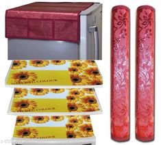 Fridge Covers Trendy Fridge Mats  Material: PVC Pack: Pack of 1 Product Length: 60 cm Product Height: 90 cm Country of Origin: India Sizes Available: Free Size   Catalog Rating: ★3.9 (452)  Catalog Name: Free Mask Classy Fridge Covers CatalogID_907475 C131-SC1623 Code: 291-5990763-273