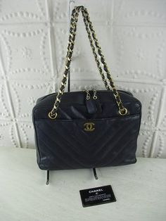 5a4e604b2faa Chanel Vintage Lambskin Leather Tote Shoulder Bag. Get one of the hottest  styles of the