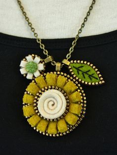 Three part pendant.... by woolly fabulous, via Flickr