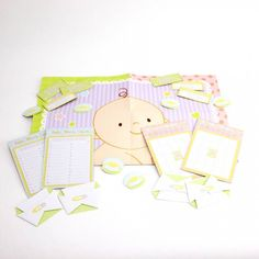 Baby Shower Complete Game Kit - Surprise and delight all the guests at your baby shower with this fun and interactive set of games! Each set includes 5 games - Baby Words game, Baby showerr Bingo, Nappy Surprise, Baby Care charades and Pin the dummy on the baby! The pastel colours are perfect for a bay boy, girl or if the gender is unknown and the set is suitable for 12. #babyshower #mumtobe #duedate #babygame #babyshowergame