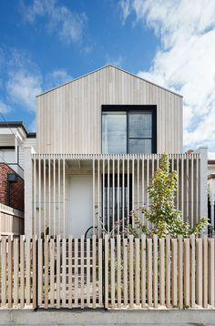 As a contemporary terrace house for a young family in Brunswick, LLLBion House by Tecture has been designed as a home filled with love and laughter. Australian Architecture, Residential Architecture, Modern Architecture, Architecture Details, Facade Design, Exterior Design, House Design, Sweet Home, Narrow House