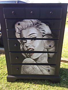 My decoupaged Marilyn Monroe dresser!!