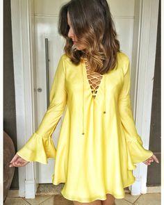 Vestido Transpasse - amarelo | @shop.vvendramini | www.vvendramini.com.br |