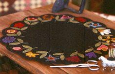 "Garden Walk Table Mat Kit - ""The Quilted Crow Quilt Shop, folk art quilt fabric, quilt patterns, quilt kits, quilt blocks"