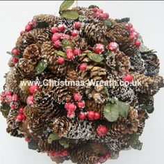 Large pine cone ball Christmas decoration