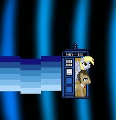 My little ponies riding in a Tardis. I don't have words.