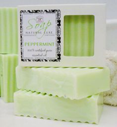 Our Peppermint Soap is pure luxury and indulgence and will quickly become your new everyday soap! This natural glycerin soap is scented with 100%