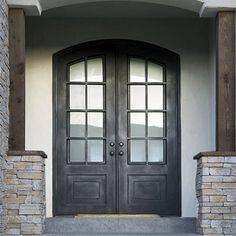 Craftsman Iron Door, Double and Single doors in-stock Iron Front Door, Front Doors, Entrance Doors, Garage Doors, Wrought Iron Doors, House Doors, Single Doors, Craftsman, Building A House