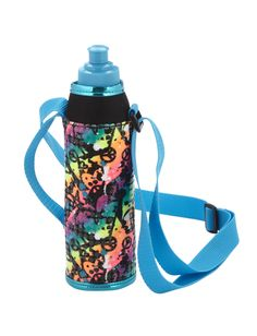 NWT JUSTICE GIRLS FOIL STAR TIE DYE SLEEVED WATER BOTTLE