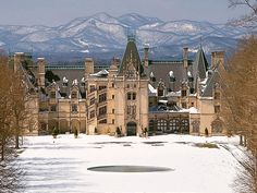 The Biltmore Estate in Ashville, NC w/ snow. Hoping to go this winter.