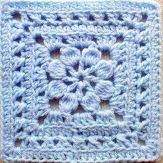 Crochet Square Pattern Walled Garden Square pattern is an exquisitely beautiful pattern with clear, well-written directions. - Walled Garden Square pattern is an exquisitely beautiful pattern with clear, well-written directions. Grannies Crochet, Crochet Squares Afghan, Crochet Motifs, Crochet Blocks, Granny Square Crochet Pattern, Crochet Stitches, Crochet Afghans, Easy Granny Square, Flower Granny Square