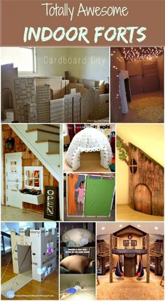 Indoor Forts! My daughter loves building forts, teepees, and everything in between to be able to hide in and have her own little private space. I have gotten so many neat ideas from this website!