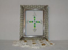 hand made xmas cross ornament by kalenescustomgifts on Etsy, $4.95
