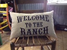 Stenciled Pillows - Western Furniture | Rustic Home Decor