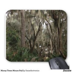 Mossy Trees Mouse Pad