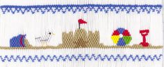 "CEC- ""Life at the Beach"" Smocking Plate by Crosseyed Cricket"