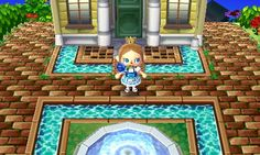 Animal Crossing New Leaf pond water qr codes