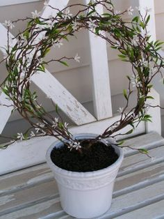Tea Rose Home: Tutorial--Topiary for people who don't have a green thumb-- Topiary Plants, Topiary Garden, Vegetable Garden Design, Garden Landscape Design, Lawn And Garden, Garden Pots, Garden Shop, Garden Ideas, Feng Shui