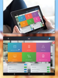 Online Medicare Doctor Dashboard-Tablet UI Mockup on Behance