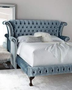 Shop Carter Teal Queen Tufted Bed from Haute House at Horchow, where you'll find new lower shipping on hundreds of home furnishings and gifts. Bedroom Furniture, Furniture Design, Bedroom Decor, House Furniture, Wood Bedroom, Furniture Stores, Camas King Size, Teal Bedding, Luxury Bedrooms