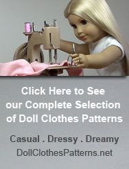 Quite a few of the readers who are sewing doll clothes patterns for American Girl dolls are looking for a less expensive 18 inch doll who can wear the same Sewing Doll Clothes, Sewing Dolls, Girl Doll Clothes, Doll Clothes Patterns, Girl Dolls, Doll Patterns, Ag Dolls, Sewing Patterns, American Girl Crafts