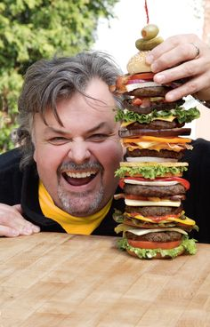 Ted Reader, author of The Complete Idiot's Guide to Smoking Foods! Check out that burger! #CIGMemorialDay