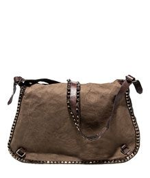 CAMPOMAGGI: POSTINA MAXI BAG WITH STUDS COLOR GRAY | Playground Shop
