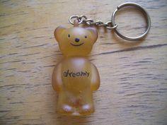 80s Dreamy Bear Key Chain Holder Vintage Rubber by JirjiMirji, €5.73