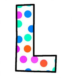 ArtbyJean - Paper Crafts: Alphabet Set - Polka Dots in bright magenta, shocking pink, blue, turquoise, aqua, and orange. Polka Dot Letters, Bubble Letters, Name Letters, Polka Dots, Monogram Alphabet, Alphabet And Numbers, Abc Letra, Magenta, Pink Blue
