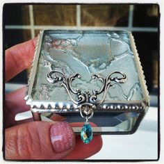 Ring Box  Vintage Frost  Stained Glass Box  2x2x1 by SKDGalerie, $25.00