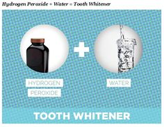 """I asked my dentist what she uses for her gorgeous white teeth, and she does the simplest, cheapest, oldest school remedy on the planet — hydrogen peroxide!"" says Julia DiNardo ofFashion Pulse Daily. ""Use a small amount of 50/50 ratio of water to hydrogen peroxide, swish it around in your mouth for a few seconds, then spit it out. Don't swallow! You can also dip your toothbrush in it, or add some baking soda to the brush for a foamy and clean effect."""