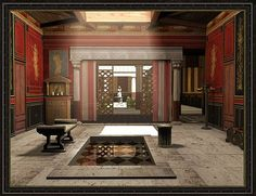 Digital reconstruction of a Roman Domus´s Atrium
