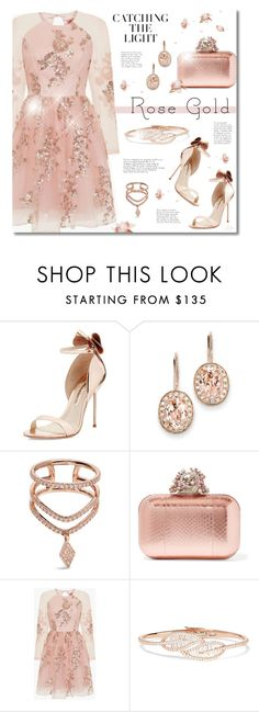 """Rose Gold"" by jgee67 ❤ liked on Polyvore featuring Sophia Webster, Kevin Jewelers, Diane Kordas, Jimmy Choo, Chi Chi, Anita Ko, polyvoreblogger, rosegold and polyvoreeditorial"