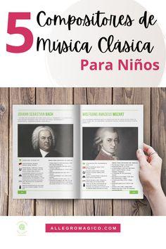 Descarga gratis nuestra guía sobre 5 biografías de compositores de música clásica para niños: claras, resumidas y con sugerencias musicales. Amadeus Mozart, Philadelphia, Orchestra, Instruments, Musicals, Teachers