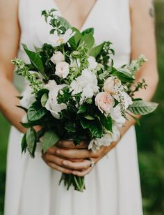Simple garden bouquet