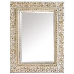 Paint the old mirror we have:  Rustoleum Heirloom White (rough up with sand paper)
