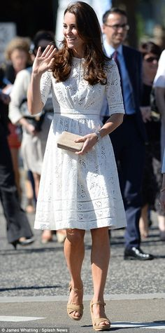 Kate Middleton in Zimmerman at the Royal Easter Show in Australia. April, 2014.