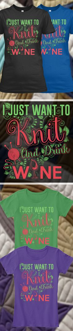 Knitting And Wine - Limited Edition. Grab yours or gift it to a friend. You will both love it