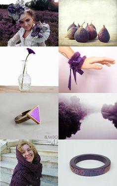 Purple on - Fav #Etsy Treasury