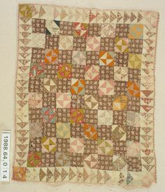 Quiltmaker, Unknown. Broken Dishes. Circa 1840-1880.. From State Historical Society of Iowa, Mary Barton Collection. The Quilt Index