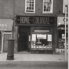 the home and colonial shop! Vintage London, Old London, Documentary Photography, Store Fronts, Pitch, Old Photos, Worship, Colonial, United Kingdom